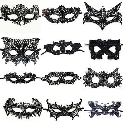 Sexy Women Black Lace Eye Face Mask Masquerade Party Ball Prom Halloween Costume - Black Face Halloween Costumes