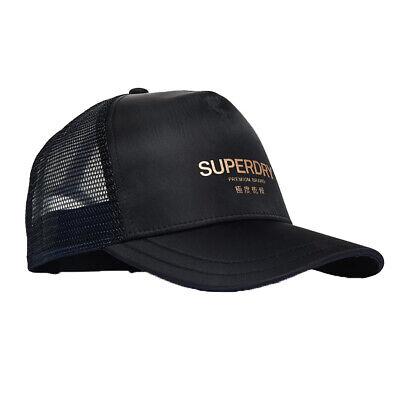 Superdry NEW Women's Metallic Trucker Cap - Black BNWT