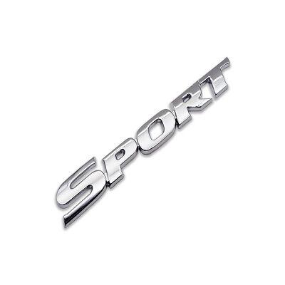 Silver Metal Sport Logo Car Emblem Turbo Rear Badge Letter Sticker Racing Decal