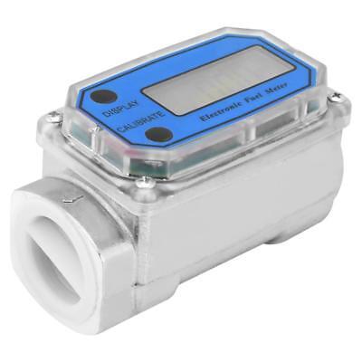 Led Digital Turbine Flow Meters Diesel Fuel Flowmeter 15-120lmin 1npt Blue