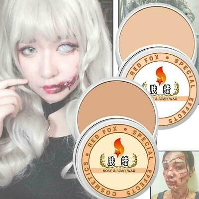 Halloween Face Wound Makeup (Halloween Fancy Dress Fake Scar Wound Skin Wax Body Face Painting Make Up )