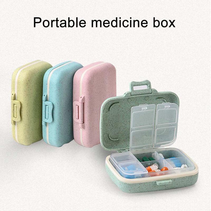 6 Slots Moisture-proof Slots Pill Box Organizer Case Portabl