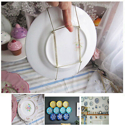 "10Pcs 8""-14"" Plate Hanger Plate Dish Display Plate Hangers for The Wall Decor"