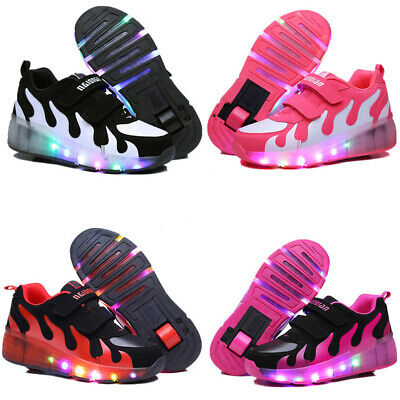 LED Shoes Sneakers for Kids Girls Boys Light Up Roller Skate Shoes and Wheels - Shoes For Girls Sneakers