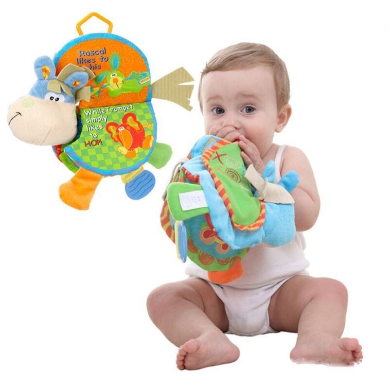 Nettes Kind Baby Tier Tuch Buch Bett Erkenne Intelligenz Entwicklung Spielzeu Tn