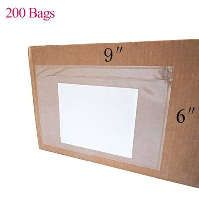 200 6x9 Clear Envelope Pouches Slip Plastic Adhesive Shipping Label Packing