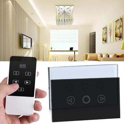 Touch Screen Dimmer Light Switch Wireless RF Remote Control Glass Panel 110-240V