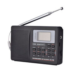 Portable Digital World Full Band Radio Receiver AM FM SW MW TV Radio Alarm Clock
