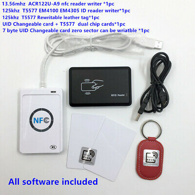 Nfc Acr122u-a9id Reader Writer Duplicate T55777byte Uid Changeable Rfid Card