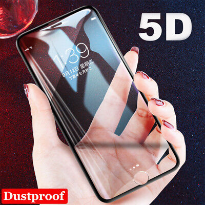5D Full Curved Edge Screen Protector Tempered Glass Film For iPhone X 8 7 6 Plus
