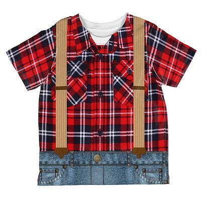 Halloween Lumberjack Costume All Over Toddler T Shirt - Lumberjack Halloween Costume