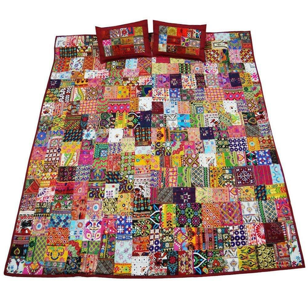 Book Cover Handmade Quilts : Patchwork bedspread ebay