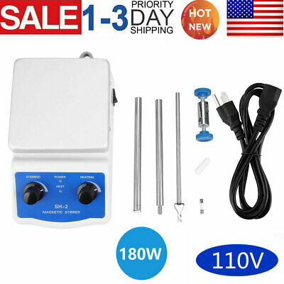 Laboratory Magnetic Stirrer With Hot Plate Mixer Heating Plate Control 110v New