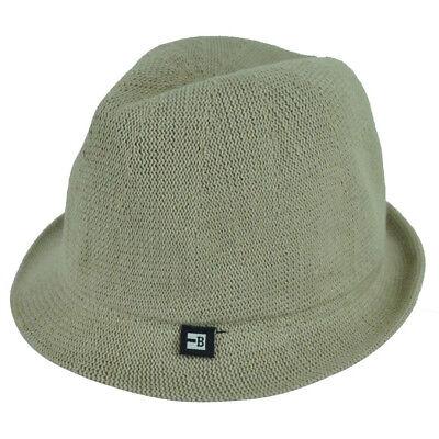 Gangster Headwear (Block Headwear Dune Fedora XLarge Relax Gangster Trilby Stetson Hat Solid Khaki)