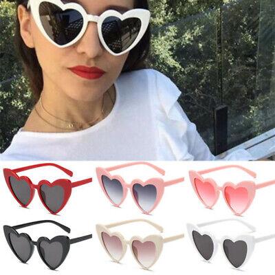 Women Cute Heart Sunglasses Cat Eye Retro Gift Heart Shape Sun Glasses (Cat Eye Shaped Sunglasses)