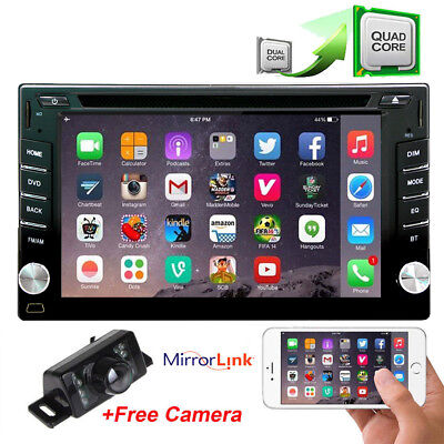 """7"""" 2DIN Android HD Car Stereo DVD Radio Player GPS 4G WIFI BT+Rear View Camera"""
