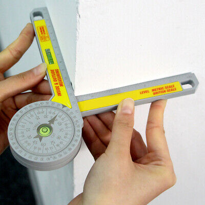 Miter Saw Protractor Digital Ruler Inclinometer Angle Level Meter Measuring Tool