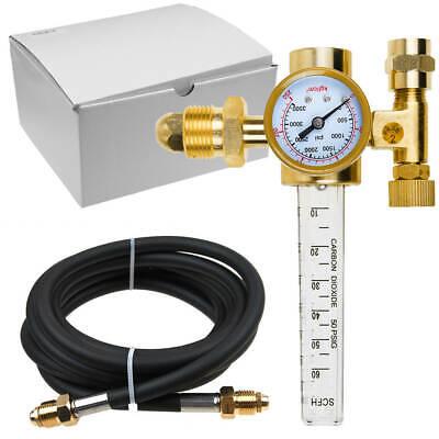 Argon Co2 Mig Tig Flow Meter Welding Regulator Gauge Gas Welder Cga-580 Hose