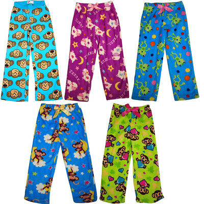 Girls Soft Plush Soft Microfiber Fleece Whimsical Print Sleep Lounge Pajama (Fleece Girls Sleep Pant)