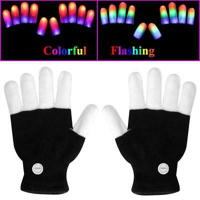 Colorful Flashing LED Gloves Kids Finger Lights Glowing for Party](Finger Lights Gloves)