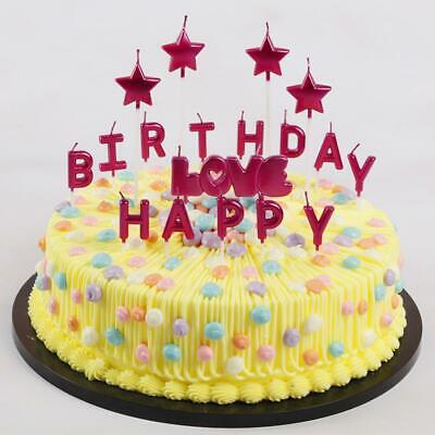 Letter Candle Party Smoke Free Cake Candles For Celebration Birthday Wedding
