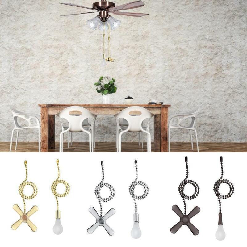 2PCS Ceiling Fan Lamp Pull Chain Wall Floor Bedside Light Co