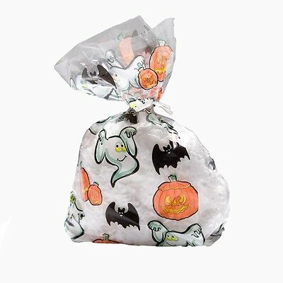 Pumpkin & Ghost Cellophane Treat Bags