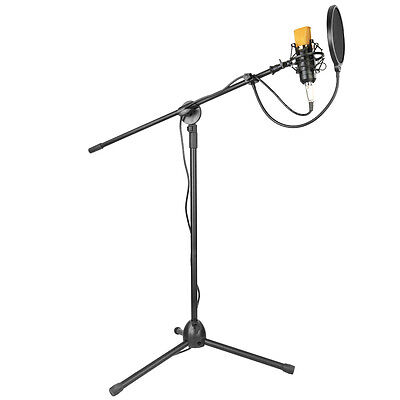 Neewer NW-700 Black Condenser Microphone Kit with Stand Wind Screen Pop Filter
