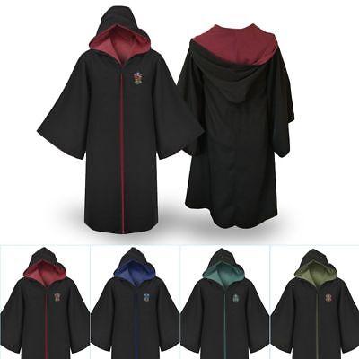 Harry Potter Robe Schule (Harry Potter Hermione Granger Robe Gryffindor Slytherin Schulumhang Kap Kostüm)