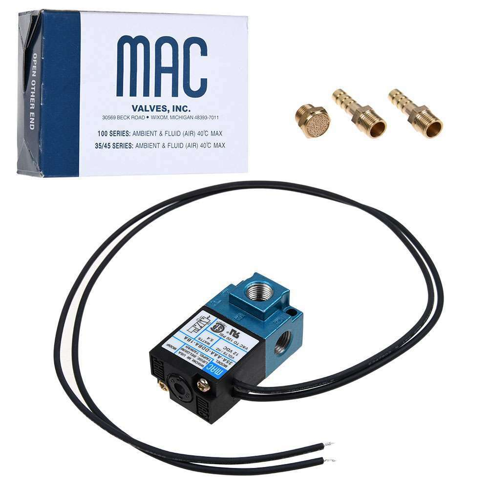 MAC For Most ECU application 3 Port 5.4W Electronic Boost Control Solenoid Valve