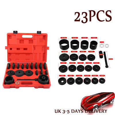 23PCS Front Wheel Drive Bearing Removal Adapter Puller Pulley Tool Service Kits