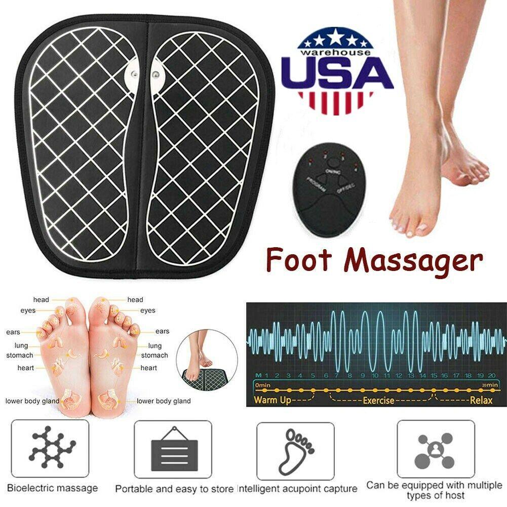Circulation EMS Smart Booster Leg Blood Foot Massager Mat He