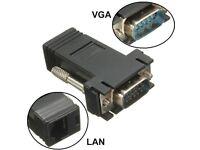 15 Pin VGA Extender Male to Lan Ethernet RJ45 Cat5 Cat6 Female Adapter Converter