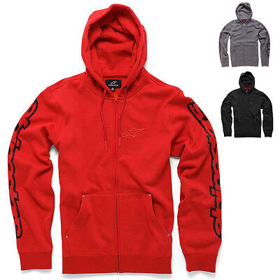 Alpinestars Racing Determine Casual Fleece Mens Guys Mx Zip Up Hoodies