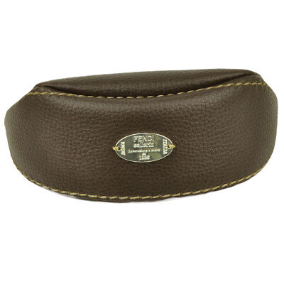 Fendi Selleria Authentic Leather Sun Glasses Soft Case Dark Brown Cloth (Sun Glasses Case)