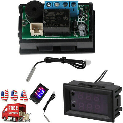 Us Microcomputer Thermostat Switchtemperature Controller Dc 12v Digital Display