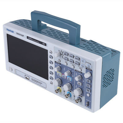 Hantek Dso5102p 100mhz 2ch Digit Oscilloscope 7 64k Tft Color Lcd 1gsas Usb Gb