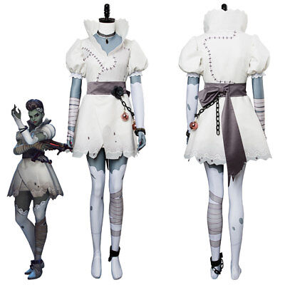 Corpse Bride Cosplay (Overwatch OW Hacker Sombra Corpse Bride New Skin Halloween White Costume)