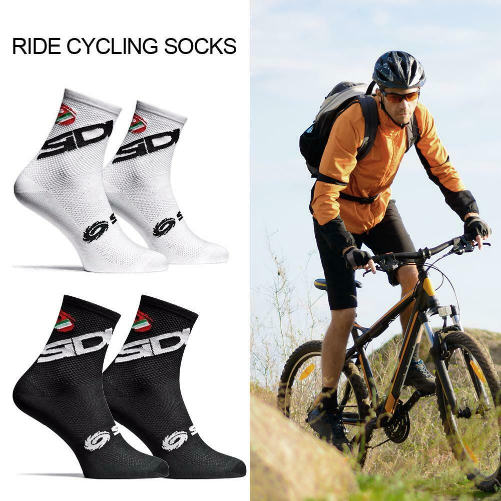 Unisex Breathable Cycling Socks Sport Riding Bicycle Perspiration Calf Tube Sock