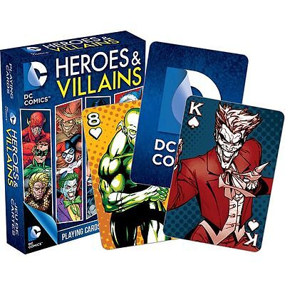 DC Comics Heroes & Villains playing cards brand new sealed - Heroes Playing Cards