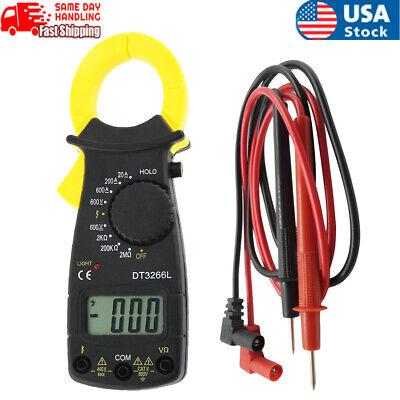 Us Digital Clamp Meter Multimeter Ac Dc Voltmeter Auto Range Volt Ohm Amp Tester