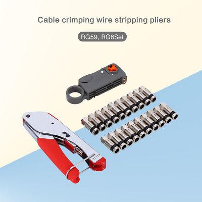Coaxial Cable Compression Crimper Set Tool For Coax Cable Rg6 Rg59 Crimper Catv