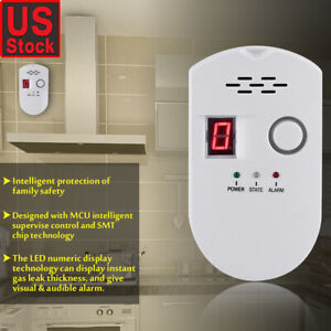 12v Standalone Combustible Gas Alarm Lpg Lng Coal Natural Gas Leak Detector Sensor For Home Security Safety Gas Detector Sensor Fire Protection