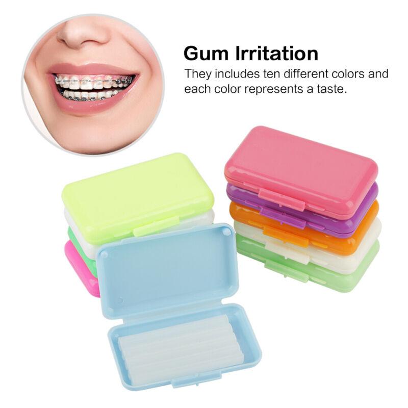 50 Packs Fruit Scent Dental Orthodontics Ortho Wax For Braces Gum Irritation Set