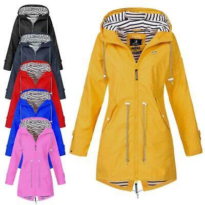Damen Kapuzenjacke Windbreaker Jacke Kapuze Regenmantel Wasserdicht Windjacke