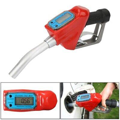 Manual Digital Fuel Gasoline Diesel Petrol Oil Gun Nozzle Dispenser Wflow Meter