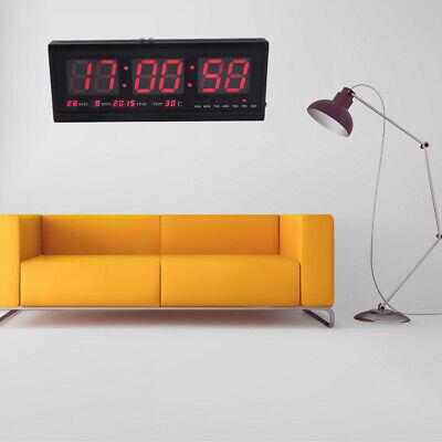 LED Wanduhr Digital Uhr inkl. Datum Temperatur Feuchtigkeit f. Wohnzimmer Büro