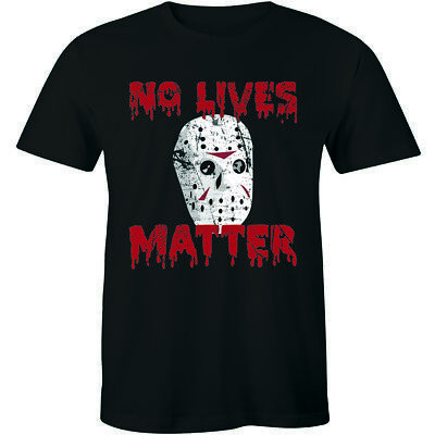 T Shirt Halloween Costumes Ideas (No Lives Matter Halloween T-Shirt Horror Movie Scary Men's Tee Costume)