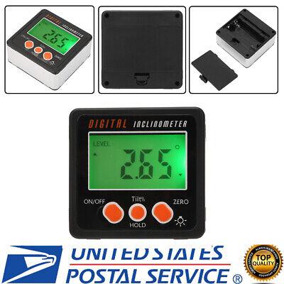 Digital Protractor Angle Gauge Finder Bevel Box Inclinometer Level Pocket Size