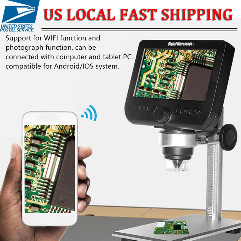 1000X Wifi Digital Microscope for Electronic Accessories Coin Inspection 8LED US